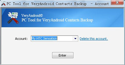 backup android contacts to computer account