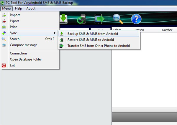 backup SMS and MMS from Android to computer
