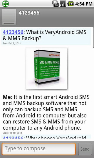 restore SMS and MMS from computer to Android