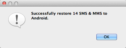 restore Android SMS and MMS from Mac