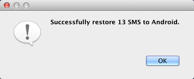 How to restore Android SMS from Mac