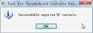 export android cotnacts to file done
